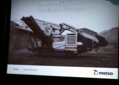 Metso Minerals debuted its LT220D Lokotrack crusher