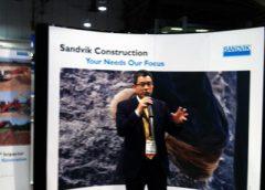 Sandvik President Dinggui Gao at ConExpo-Con/Agg.