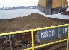 Nugent Sand's Barge-Spotting Operation Uses Oil Shear Brakes to Slash Winch Downtime and Operating Costs.