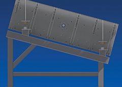 A hydraulic clamp rail system.