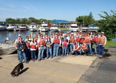 Lafarge North America employees volunteered for a Living Lands and Waters river cleanup of the Des Plains River in Channahon, Ill., near the Lafarge U.S. Joliet Quarry.