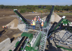 CDE Installs Sand Washing Plant in Texas