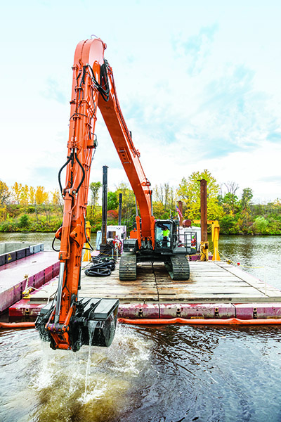 Excavating on the Water