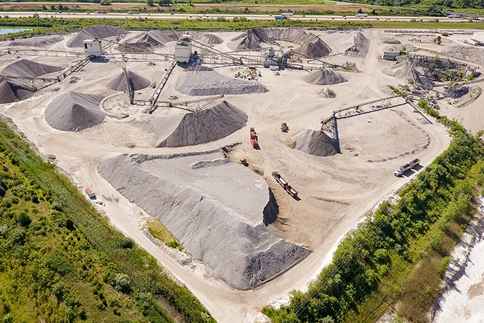 Great Lakes Aggregates Stays Inside
