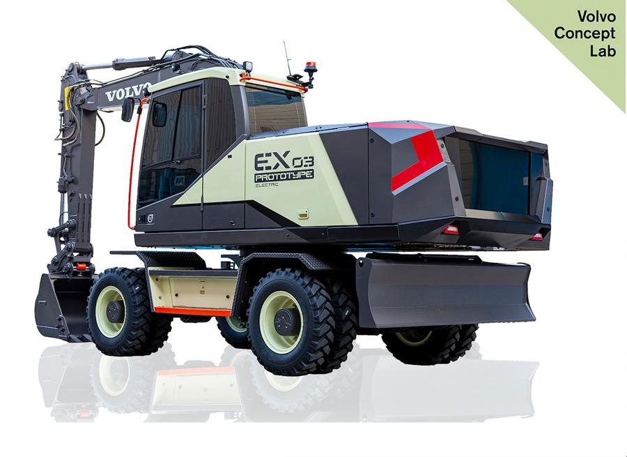 electric excavator prototype